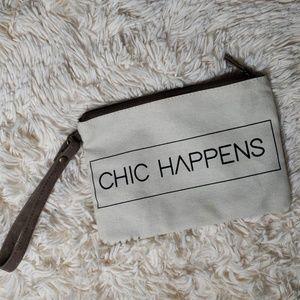 """""""Chic happens"""" make up bag"""